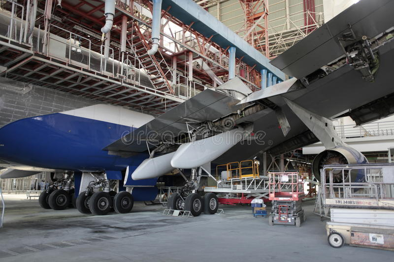 Boeing 747 C-Check. C-Check of Boeing 747-400 royalty free stock photography