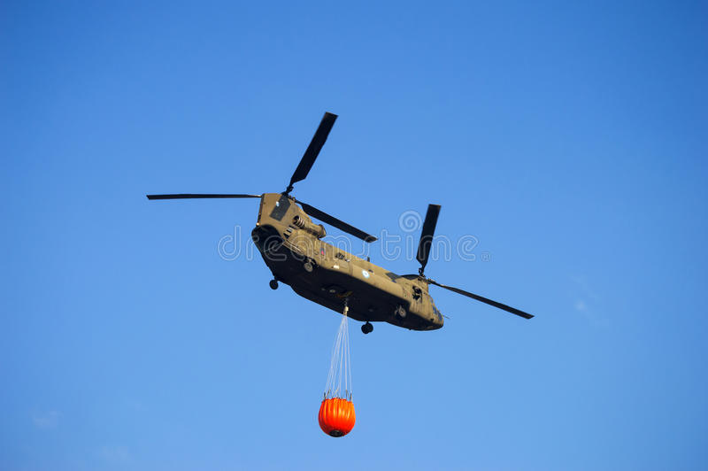 Boeing CH-47 Chinook heavy-lift helicopter. royalty free stock photo
