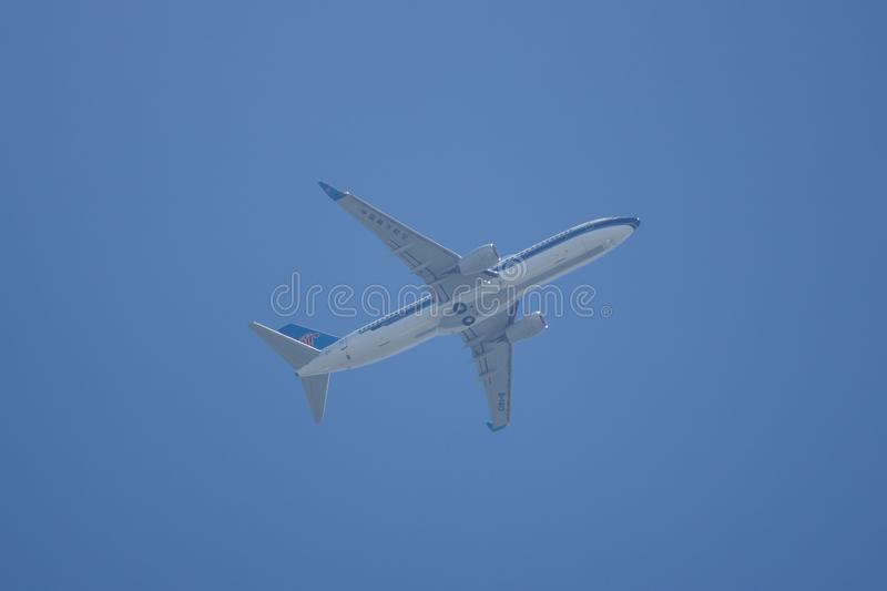 Boeing 737-800 of China Southern Airline. CHIANG MAI, THAILAND - MAY 23 2018: B-1413 Boeing 737-800 of China Southern Airline. Take off from Chiangmai Airport stock photo