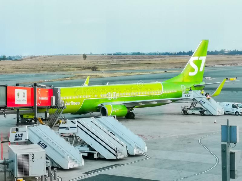 Boeing 737 de S7 Airlines photos libres de droits