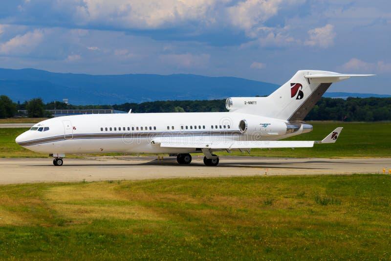 Boeing 727 dos serviços da platina imagens de stock