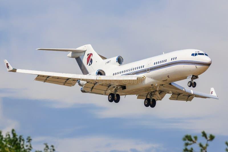 Boeing 727 dos serviços da platina imagem de stock
