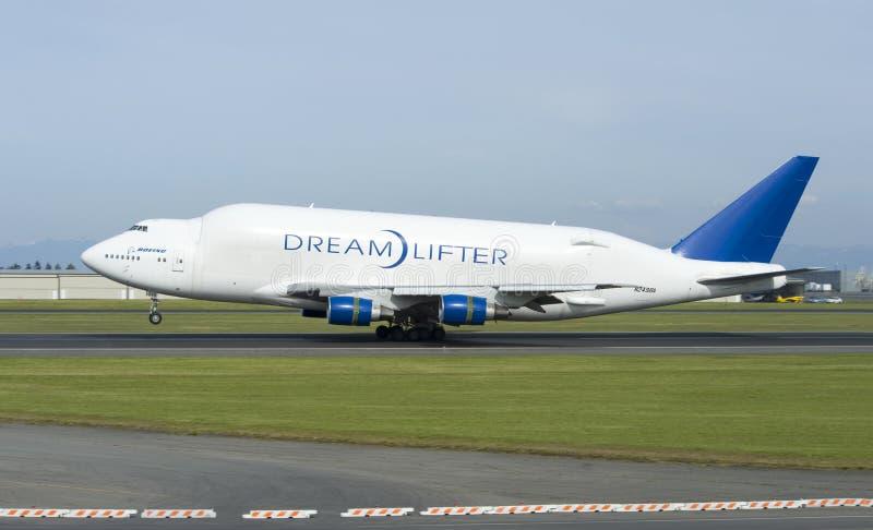 Boeing Dreamlifter stock foto