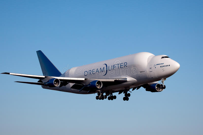 Boeing Dreamlifter in Everett Washington fotografie stock