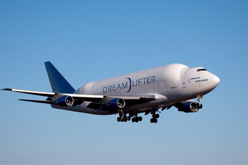 Boeing Dreamlifter w Everett Waszyngton zdjęcia stock
