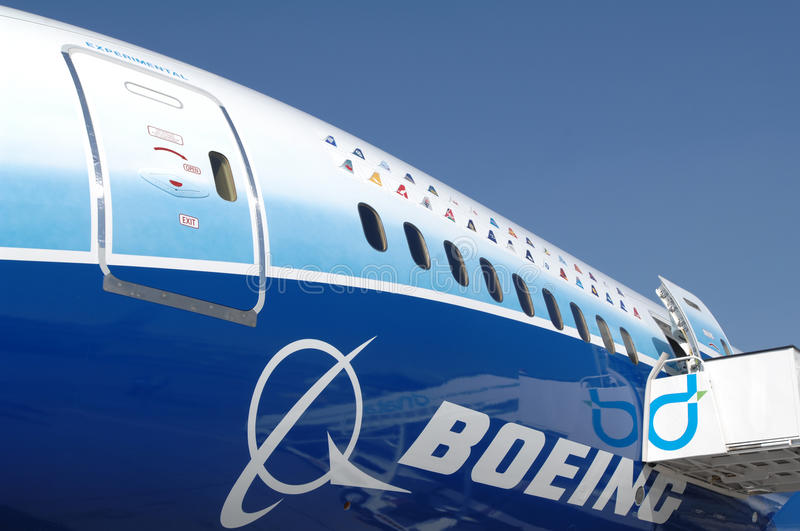 Boeing Dreamliner 787 photographie stock