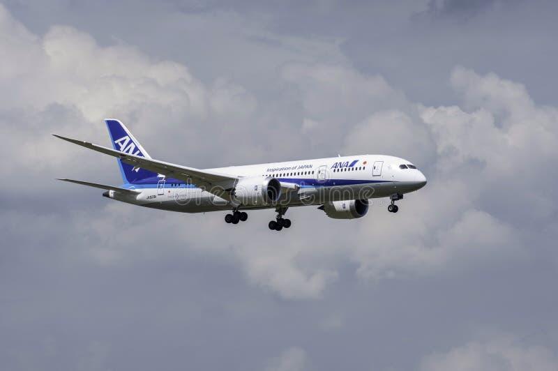 Boeing 787 Dreamliner ANA stockbild