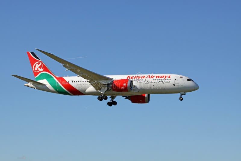 Boeing 787 Dreamliner da Kenya Airways fotografia stock