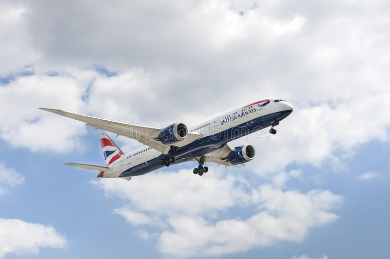 Boeing 787 Dreamliner de British Airways imagenes de archivo