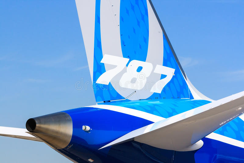 Boeing 787-10 Dreamliner detail royalty free stock photography