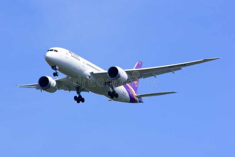 Boeing 787-800 Dreamliner hs-TQA van Thaiairway stock foto's