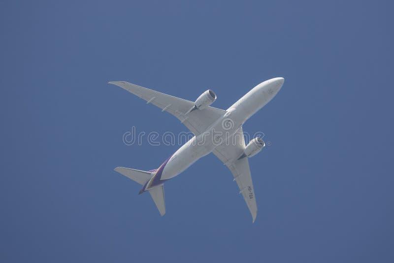 Boeing 787-800 Dreamliner HS-TQA von Thaiairway stockbilder