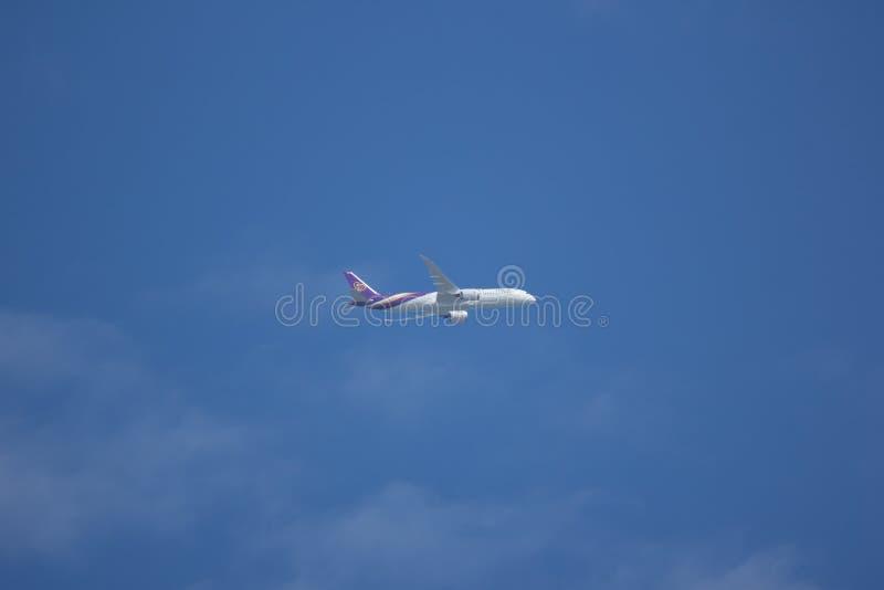 Boeing 787-900 Dreamliner hs-TWB van Thaiairway stock foto
