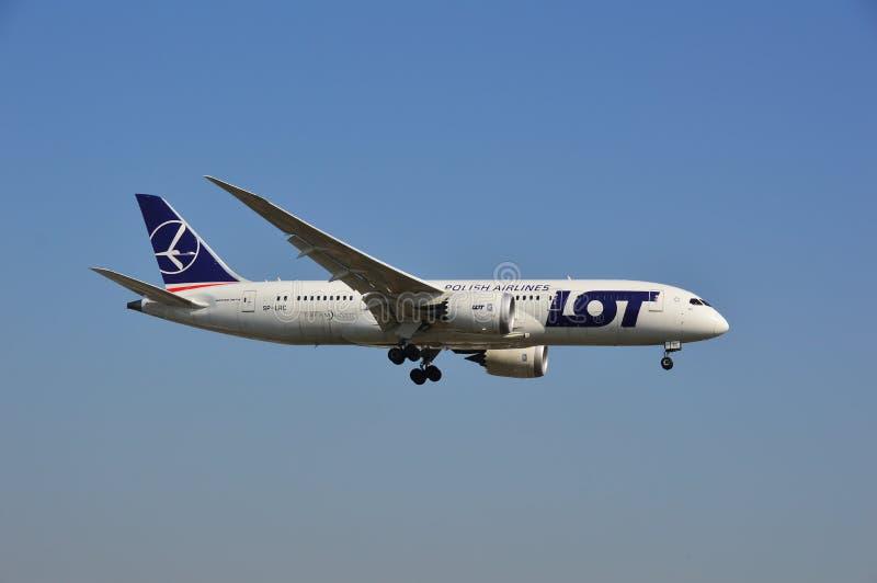 Boeing 787-8 Dreamliner - LOS Fluglinienfläche lizenzfreie stockbilder