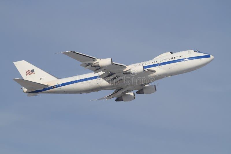 Boeing E4 imagem de stock