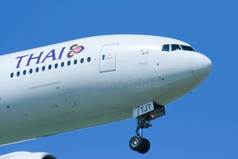 Boeing 777-200ER hs-TJT van Thaiairway royalty-vrije stock afbeeldingen