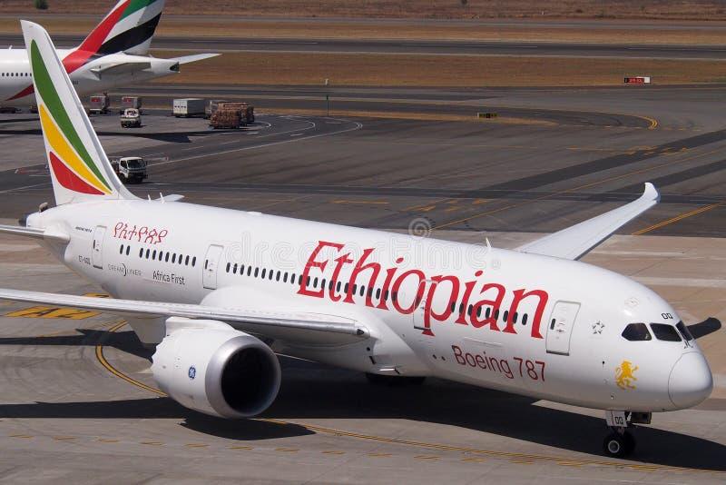 Boeing etíope 787 Dreamliner foto de archivo libre de regalías