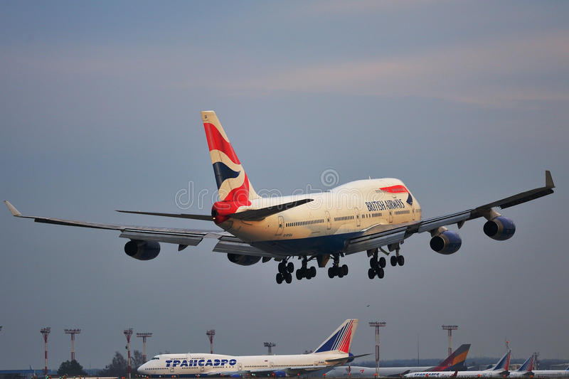 Boeing 747-400F British Airways stock fotografie