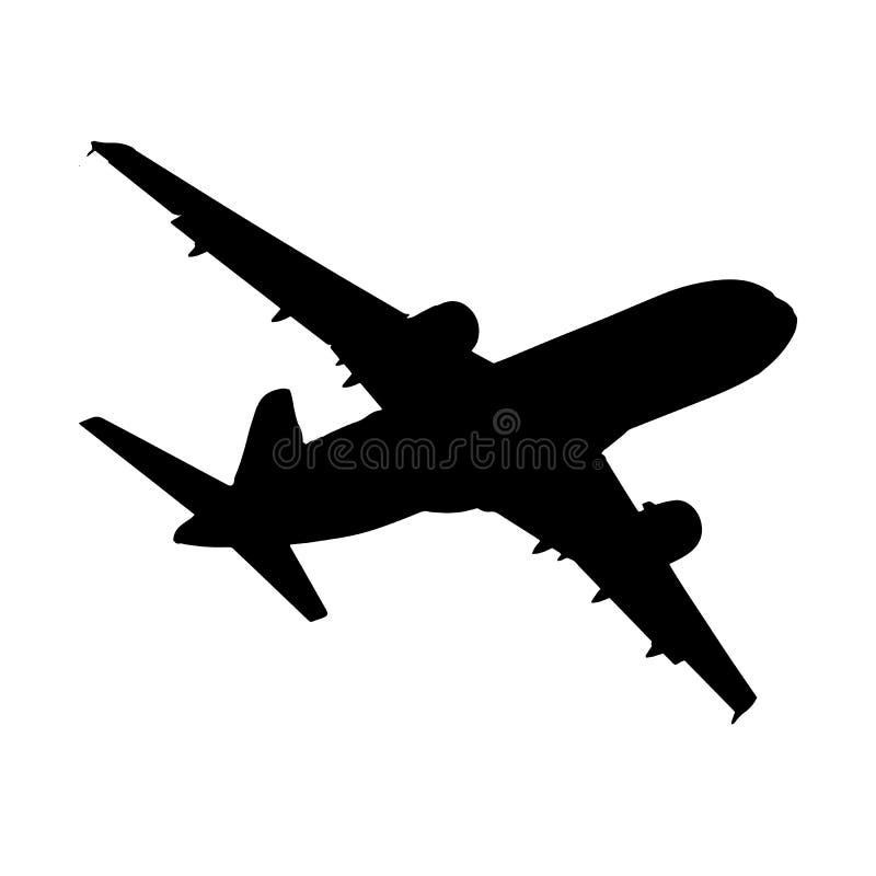 Boeing i himlen royaltyfri illustrationer