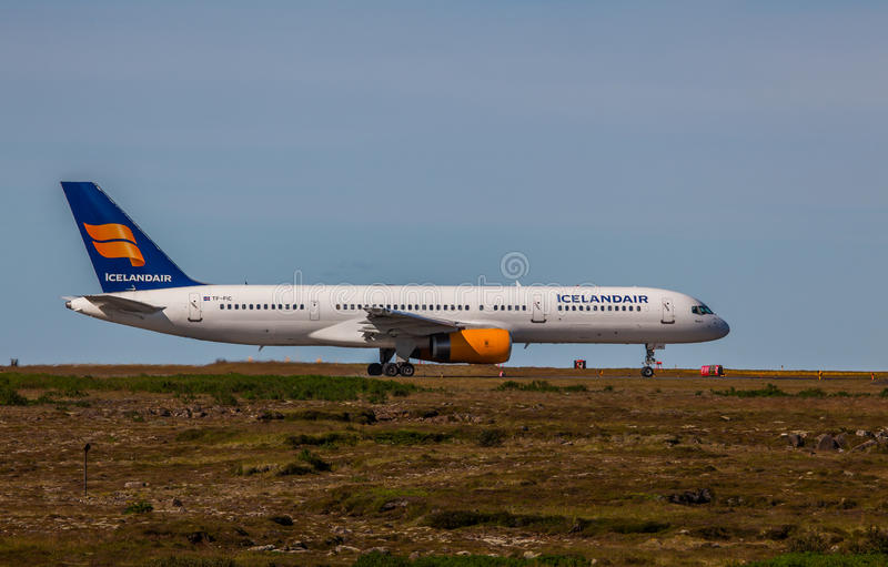 Boeing 737-800. From Icelandair at KEF Airport in Iceland royalty free stock image