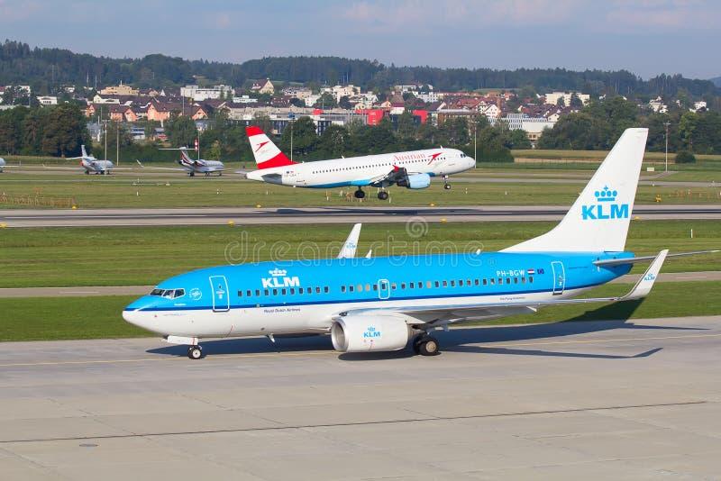 Boeing-737 KLM image libre de droits