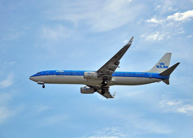 737 boeing klm royaltyfria foton