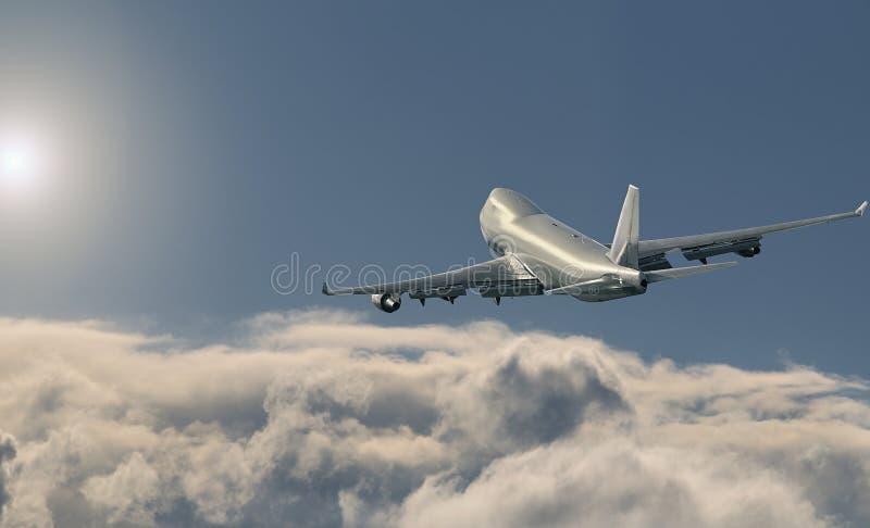 Boeing 747 LADING stock foto