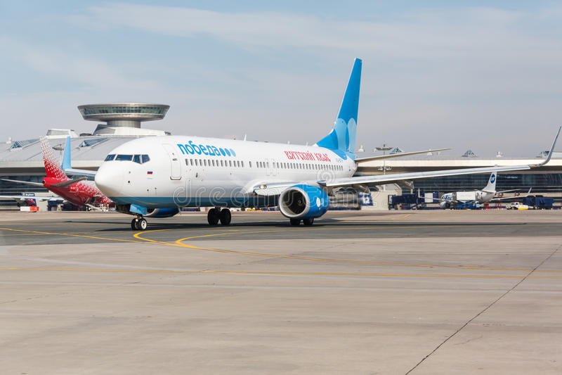 Download Boeing 737 Lignes Aériennes De Pobeda Se Tenant Chez Vnukovo Photo éditorial - Image du voyage, bagage: 87709891