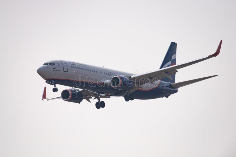 Boeing 737-8LJ VP-BFB Aeroflot obraz stock