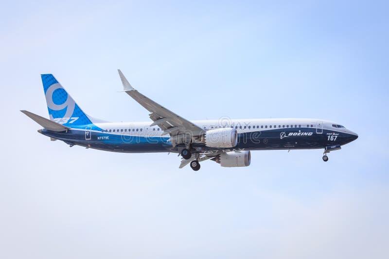 Boeing 737-9 máximo imagen de archivo libre de regalías