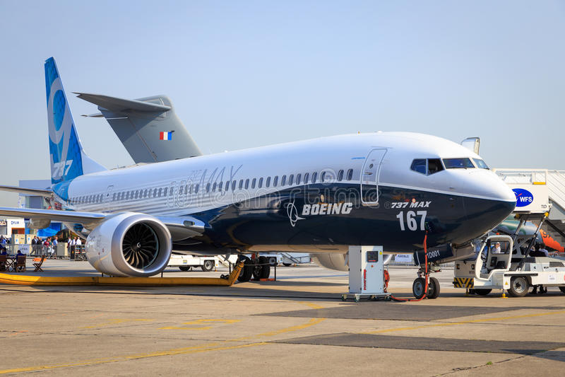 Boeing maximal 737-9 royaltyfri bild