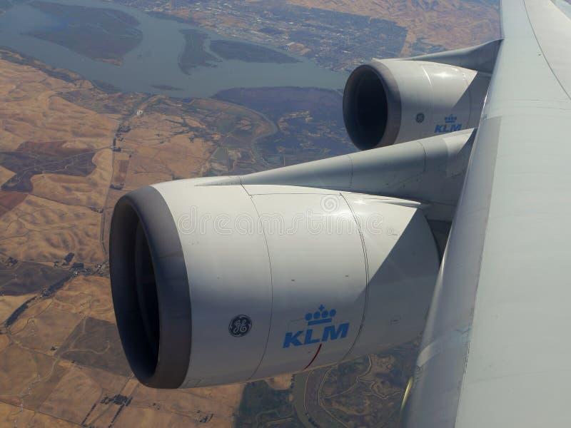 Boeing 747 moteurs image libre de droits