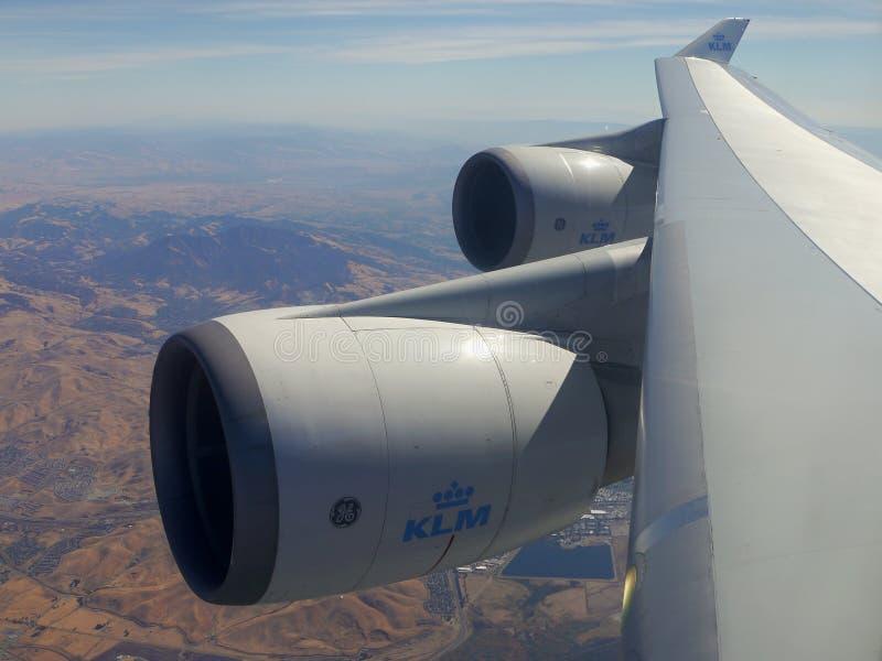 Boeing 747 moteurs photos stock