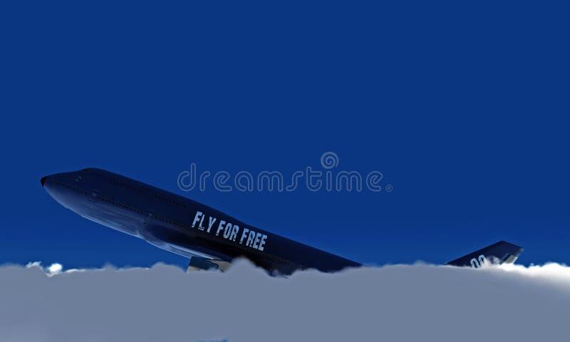 Boeing no céu ilustração royalty free