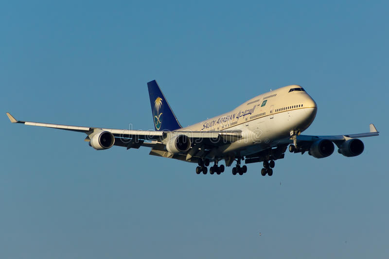 Boeing 747 Plane royalty free stock images
