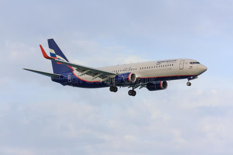 Aeroflot 737-800. Boeing 737-800 of Russian airline Aeroflot royalty free stock image