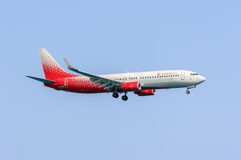 Rossiya 737-800. Boeing 737-800 of Russian airline Rossiya royalty free stock images