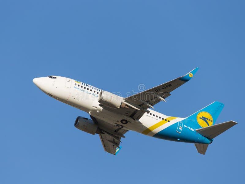 Boeing A319, Ukraine International Airlines zdjęcie stock