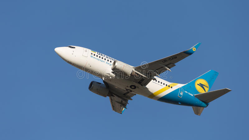 Boeing A319 Ukraine International Airlines fotografia stock