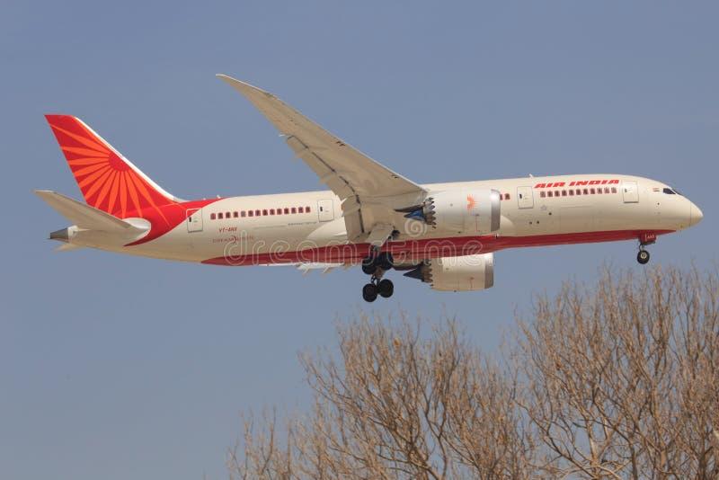 Boeing 787 van Air India royalty-vrije stock fotografie