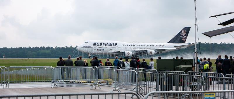 Boeing 747 van het Meisje van het startijzer ED-Kracht  stock afbeelding