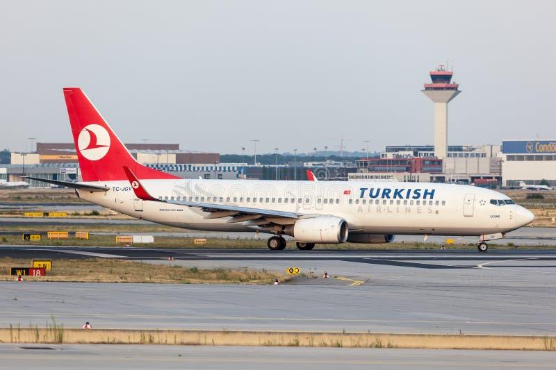 Boeing 737-800 van Turkish Airlines stock foto's