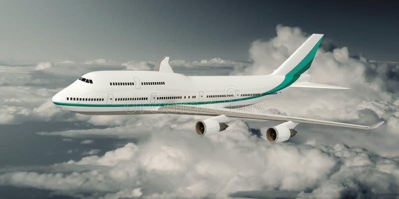 Boeing 747 Vliegtuig royalty-vrije stock foto