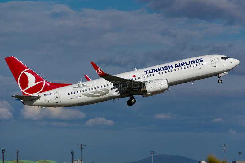 Boeing 737 Vliegtuig royalty-vrije stock afbeelding