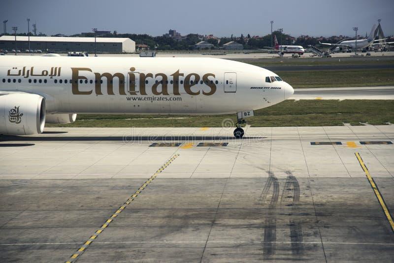 Boeing-vliegtuig op grond stock foto