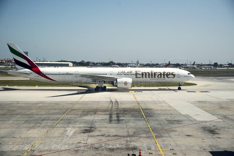 Boeing-vliegtuig op grond stock foto's