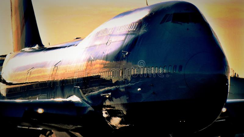 Boeing 747 Vliegtuigen royalty-vrije stock afbeelding