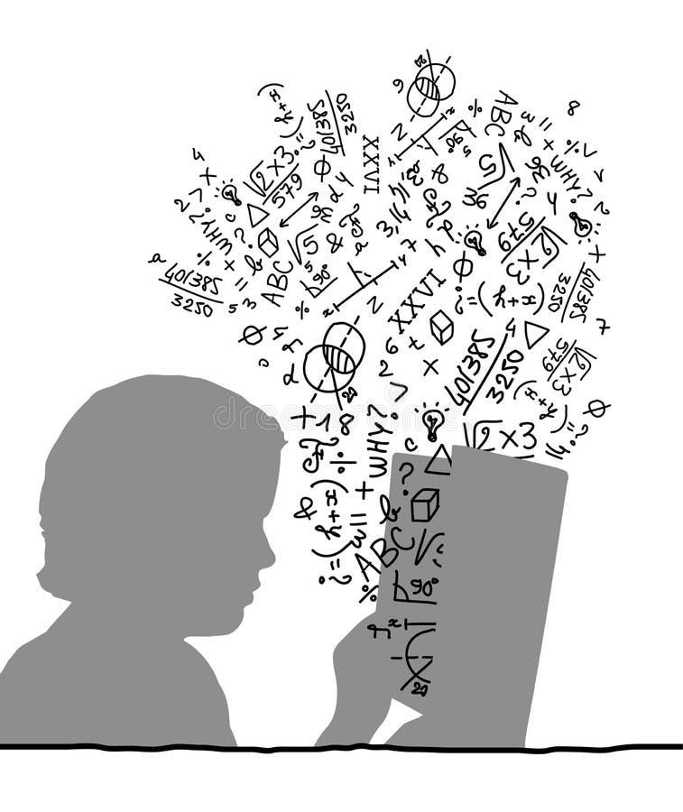Boek & studie stock illustratie