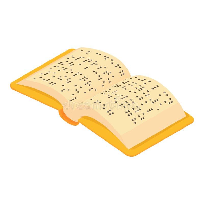 Boek Braille voor blind pictogram, beeldverhaalstijl stock illustratie