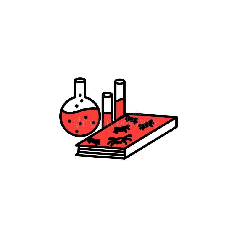 Boek, chemie, literair pictogram Element van literair genrespictogram voor mobiele concept en webtoepassingen Gedetailleerd Boek, stock illustratie